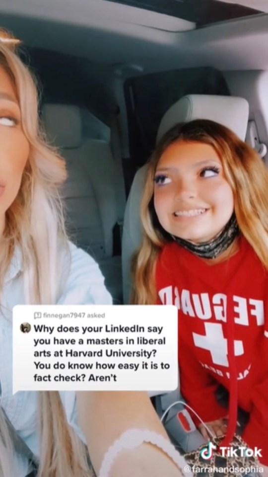 She tried to prove them wrong in a TikTok
