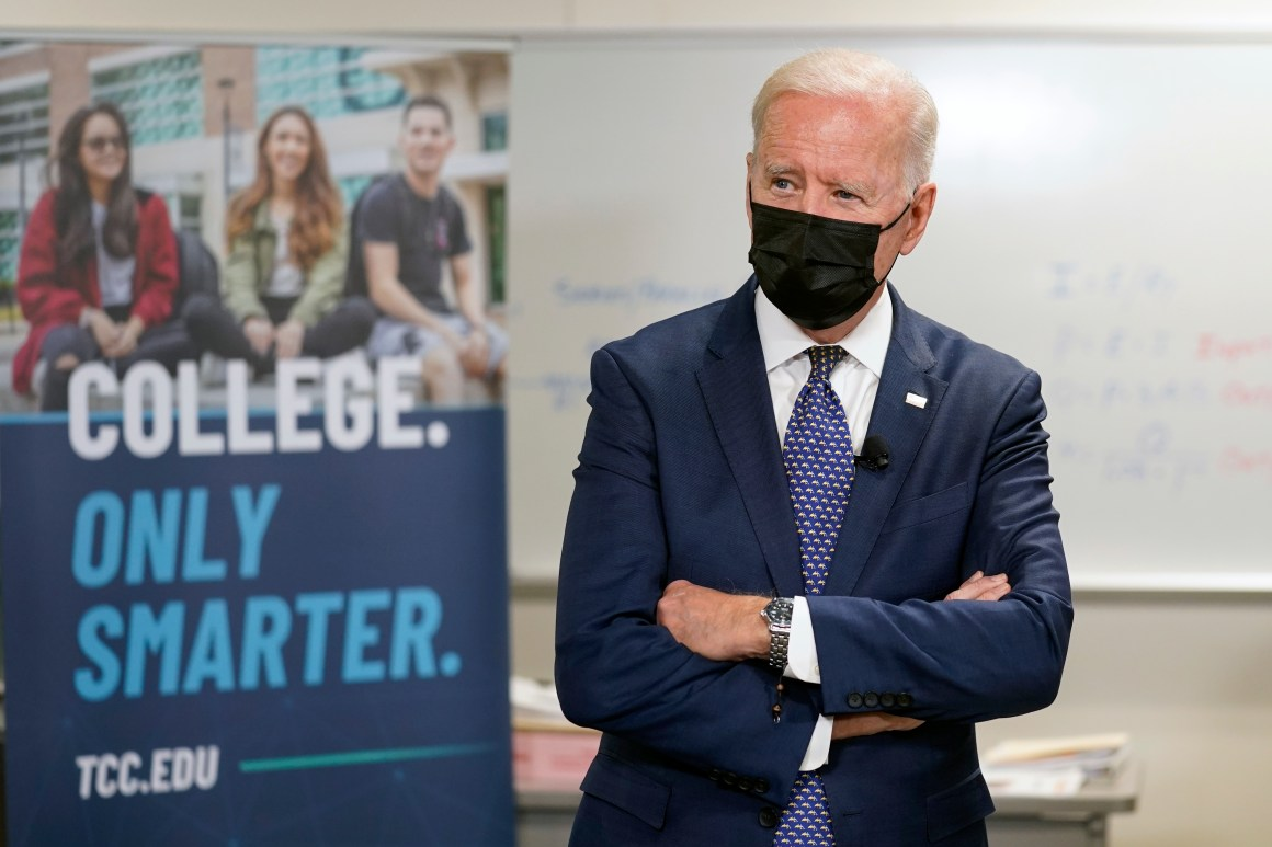President Biden has been accused on mixed messaging on mask wearing