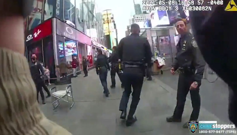The NYPD released bodycam footage on Monday