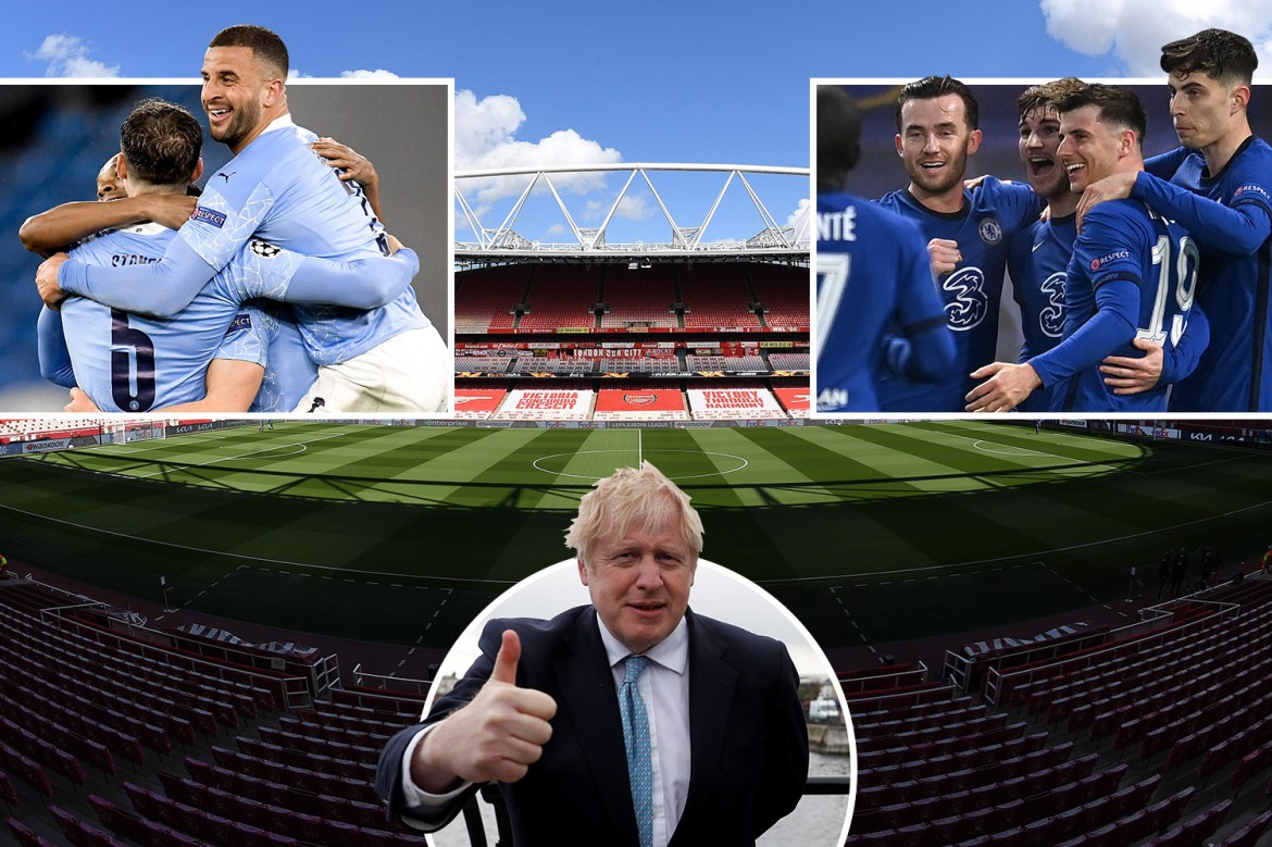 Boris Johnson calls on Uefa to allow UK to host Champs League final - with St James', Tottenham and Emirates available