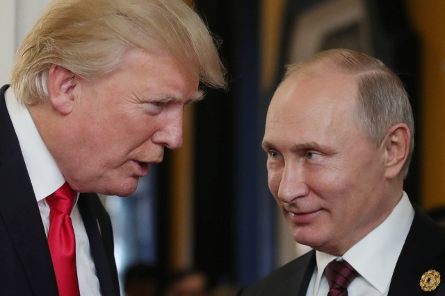 During a press conference Trump appeared to take Putin's word that Russia didn't meddle in a massive cyberattack leading up to the 2016 presidential election