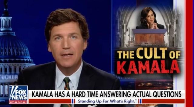 """The Fox News host has likened the effort to immortalize Kamala Harris as """"The Cult Of Kamala"""""""
