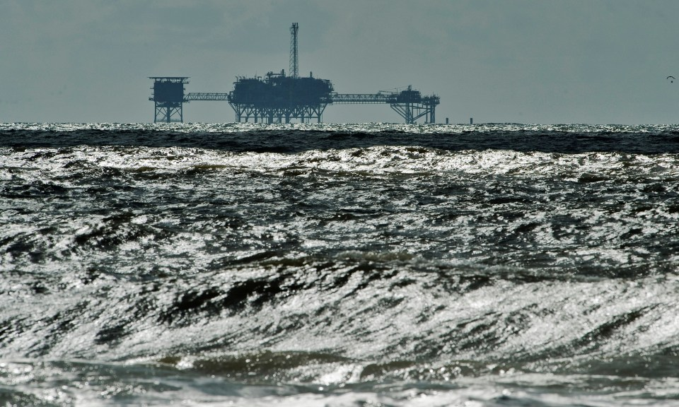 Several oil rigs off the coast of southeastern Louisiana have recently reported sustained winds of 40-45 mph
