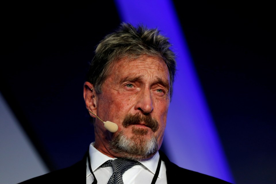 McAfee was going to be extradited to the US to face jail time