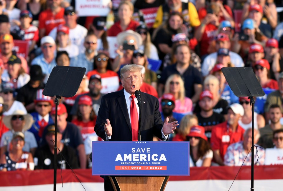 Trump spoke to thousands at a rally in Ohio on Saturday