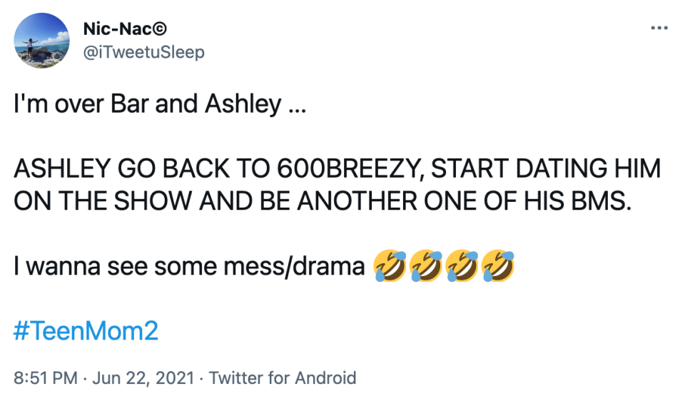 Fans said they're 'over Bar and Ashley'