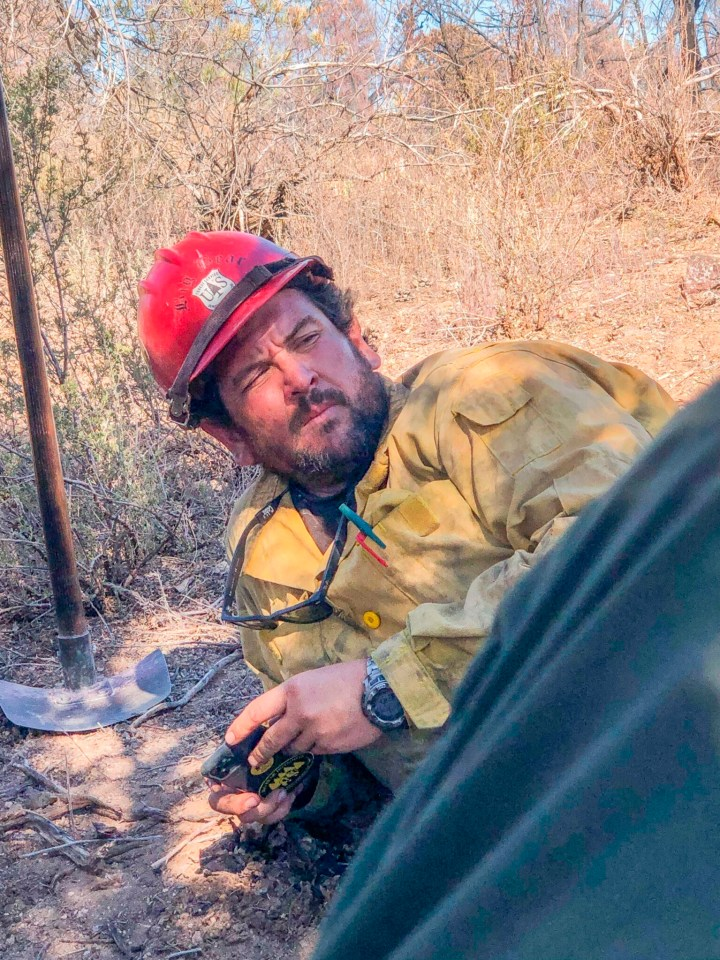 Firefighter Charles Morton was killed in the blaze