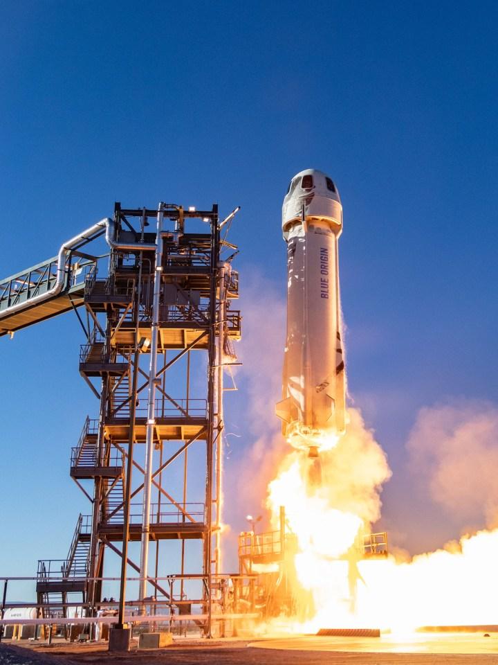 Social media users mocked Bezos ahead of his voyage on the Blue Origin spacecraft