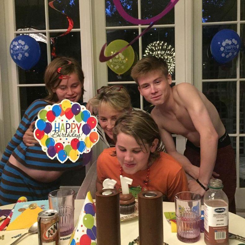 Sharon has three sons