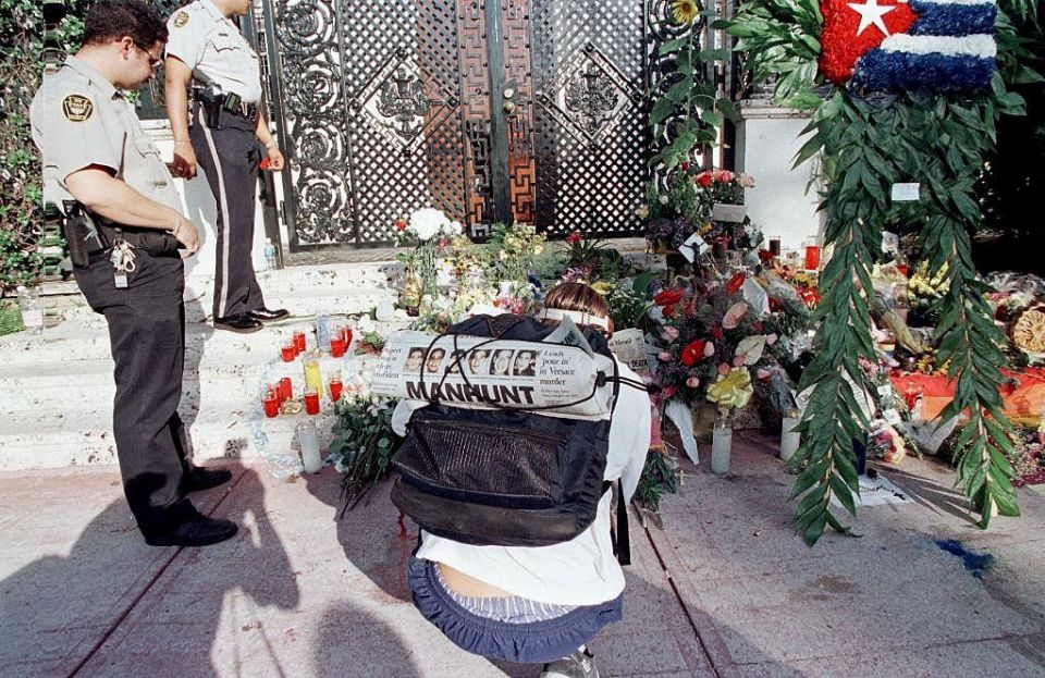 Versace was shot as his opened his front gates