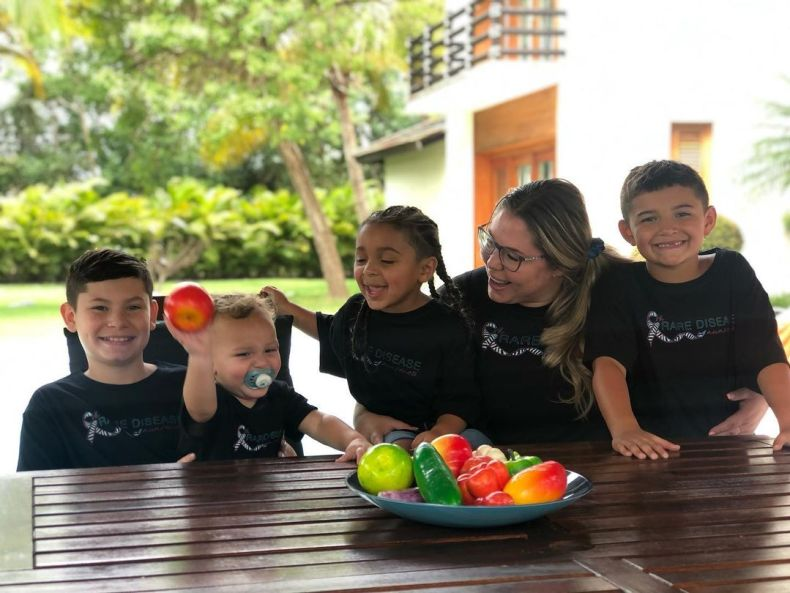 The reality star has been enjoying a luxury break with her four sons