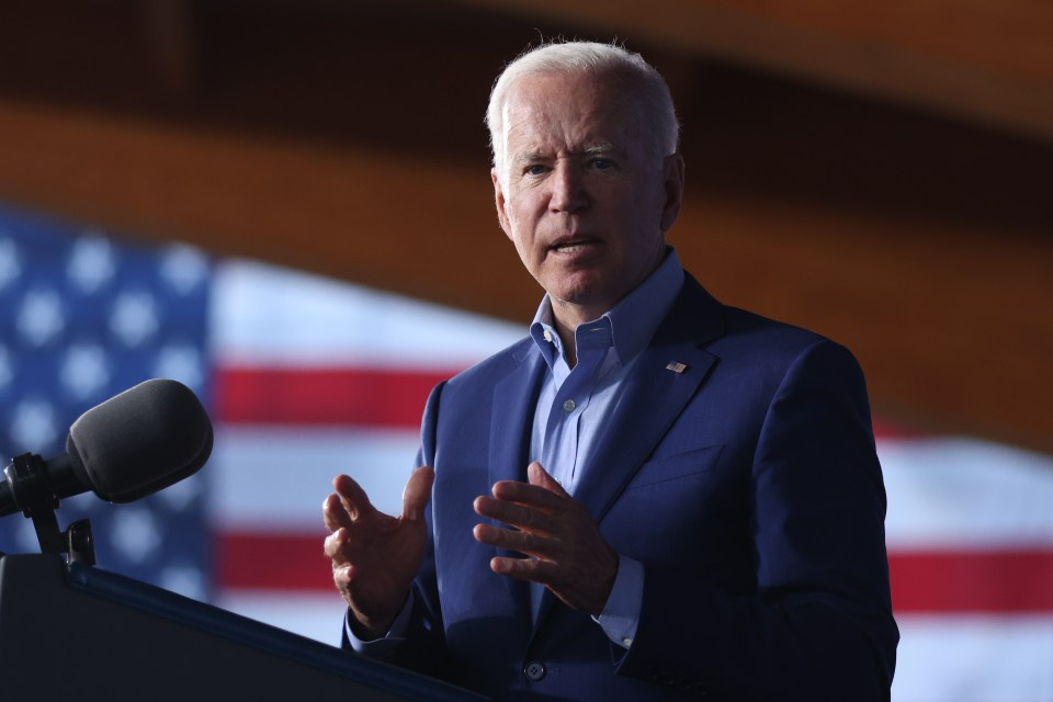 """Biden responded to a heckler in the crowd saying: """"I whipped Donald Trump in Virginia and so will Terry"""""""