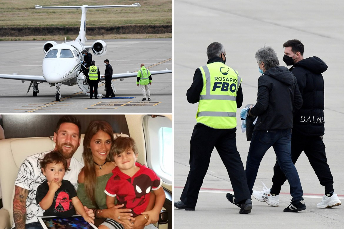 Lionel Messi's private jet delayed leaving Argentina as BOMB THREAT grounds  flights at airport after Copa America win