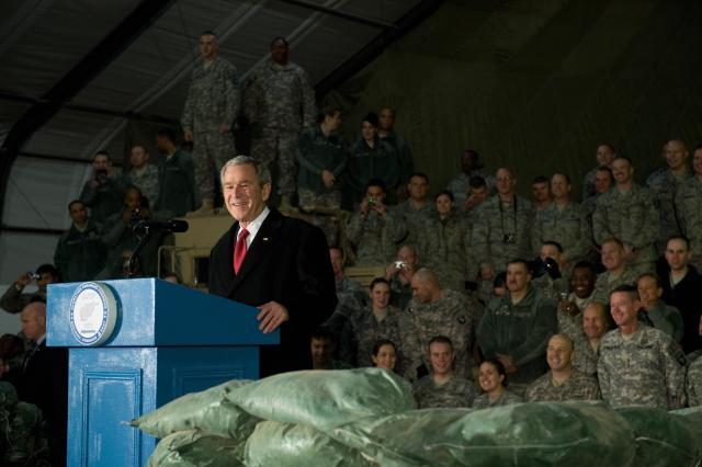 Trump slammed former President George W Bush