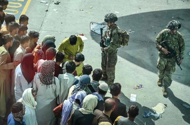 Residents rushed to flee the country - risking their lives in the process