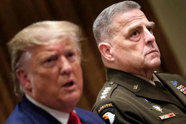 'For him to say that I was going to attack China is the most ridiculous thing I've ever heard and everybody knows it,' Trump said about Gen. Milley