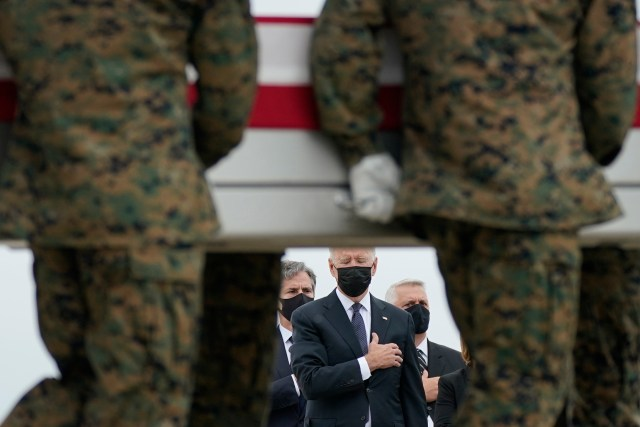 Biden has been blasted by the families of the troops slain in Kabul