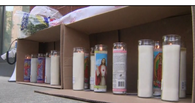 Candles and flowers were left as mourners paid their condolences to Shanice