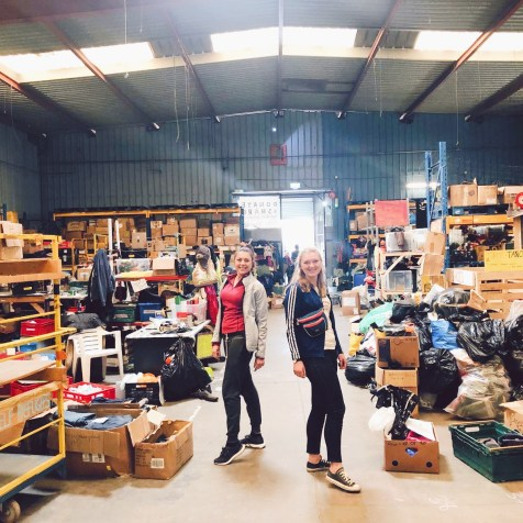 Walking around the warehouse - there is simply donations everywhere