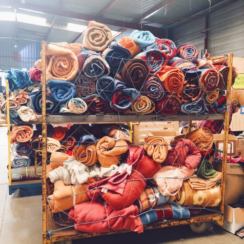 Lovely blankets ready for distribution now winter starts kicking in