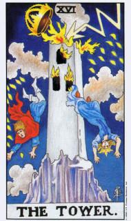 Tarotkaart XVI De Toren betekenis in de tarot