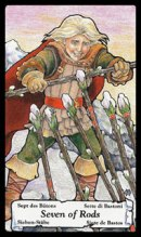 Betekenis Tarotkaart Staven Zeven