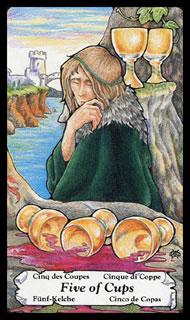 betekenis tarotkaart Bekers Vijf