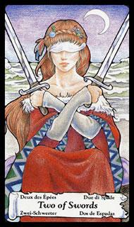 betekenis tarotkaart Zwaarden Twee