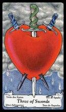 betekenis tarotkaart Zwaarden drie