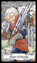 betekenis tarotkaart Zwaarden Zeven