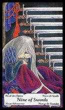 betekenis tarotkaart Zwaarden Negen