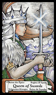 Betekenis tarotkaart Zwaarden Koningin