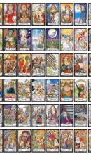een handig overzicht van alle kaarten van de tarot