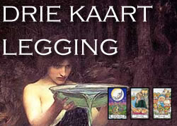 Tarot legging de Drie Kaarten Legging