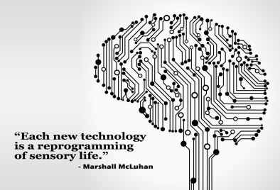 """Each new technology is a reprogramming of sensory life."" - Marshall McLuhan"