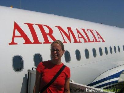 Kurz vorm Rückflug mit Air Malta