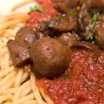 Super Tasty Mushroom Marinara with Pasta
