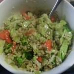 Stir-Fried Cabbage & Broccoli with Rice