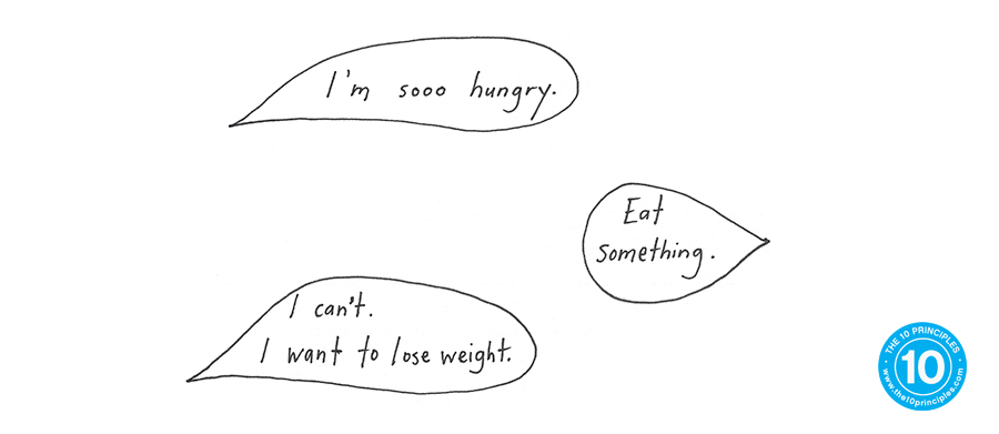 hungry to lose weight - speech bubbles