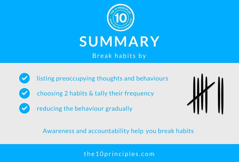 break habits - summary