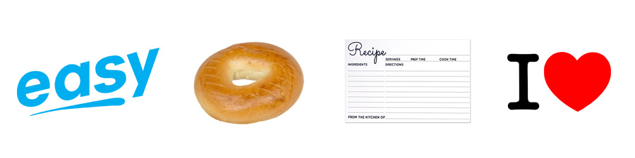 easy bagel recipe - four images