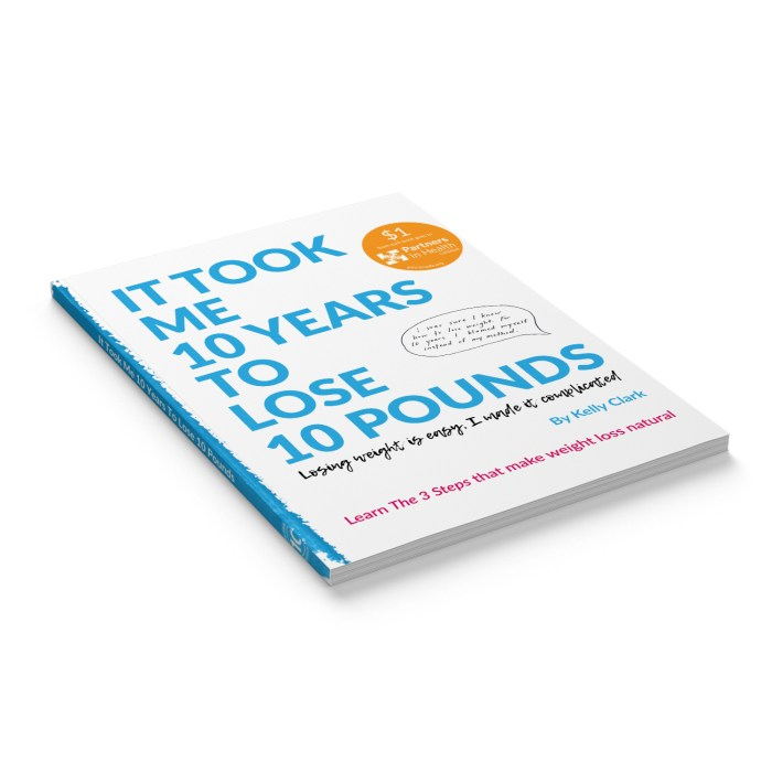 It took me 10 years to lose 10 pounds - Book Laying Down