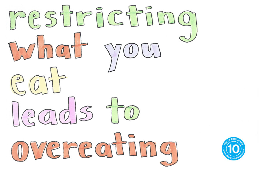 Restricting what you eat leads to overeating