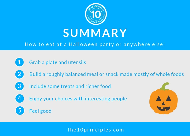 Scared to eat at a Halloween Party? - Summary