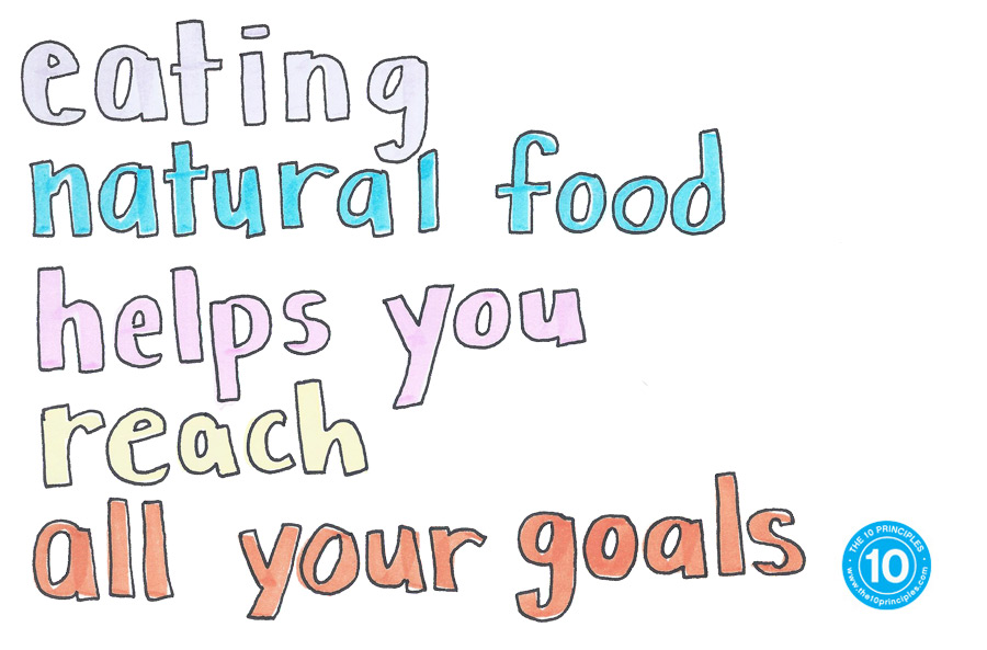 new years resolution - Eating natural food helps you reach ALL your goals