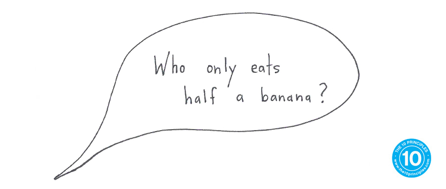 What's a good weight-loss snack? - Who only eats half a banana?