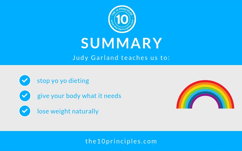 Judy Garland's diet will change how you eat - summary