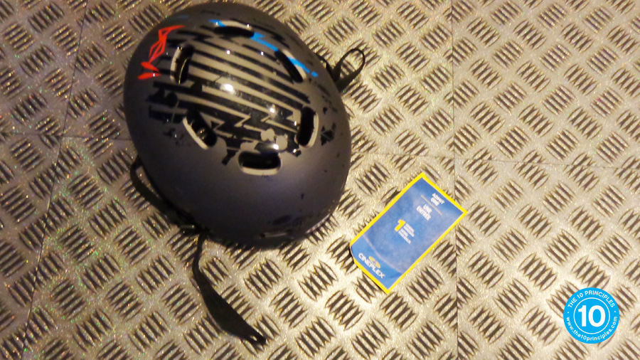 Brittany runs a marathon - Bike Helmet
