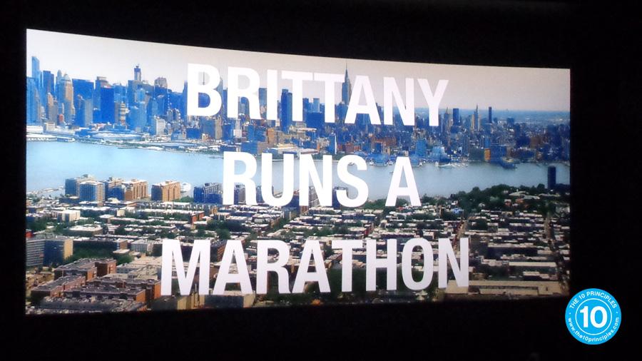 Brittany runs a marathon - Title
