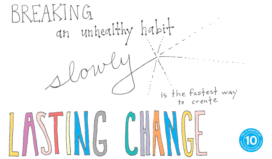 Breaking an unhealthy habit slowly is the FASTEST way to create lasting change